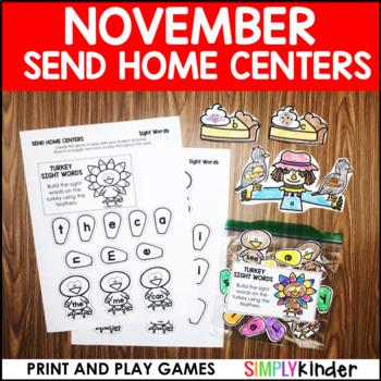 November Send Home Centers