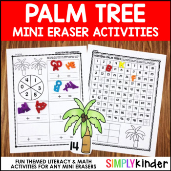 Palm Tree Mini Eraser Activities (LETTER MINI ERASERS)