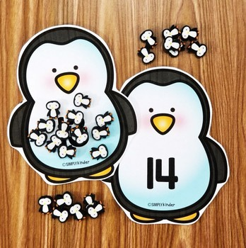 Mini Eraser Set Penguin a Day