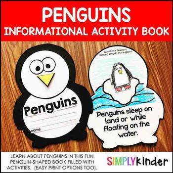 Penguins Kindergarten Activity Book