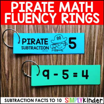 Pirate Math – Fluency Rings Subtraction from 10