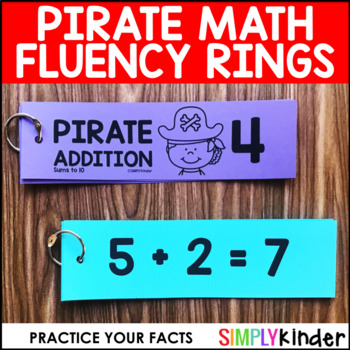 Pirate Math – Fluency Rings Sums to 10