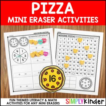 Pizza Mini Eraser Activities