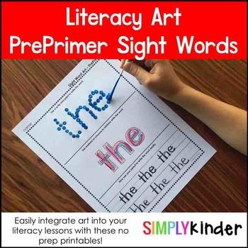 PrePrimer Art Words