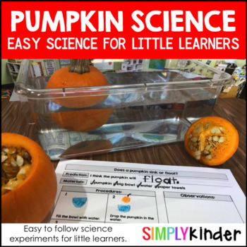 Pumpkin Science – Science with Pumpkins for Kindergarten, preschool, and First