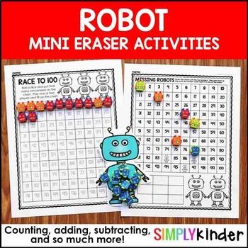 Robot Mini Erasers