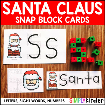Santa Snap Block Cards – Letters, Numbers, and Sight Words