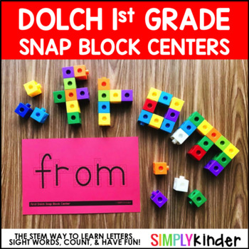 Sight Word Snap Block Center – 1st Grade Dolch Words