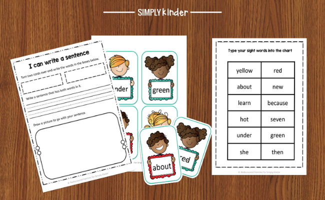 sight words printable