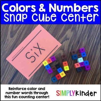 Snap Block Center – Color and Number Words