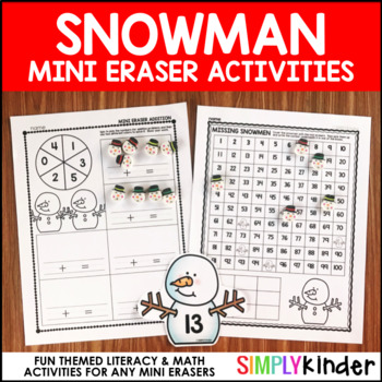 Snowman Mini Eraser Activities