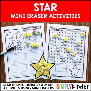 Star Mini Eraser Activities
