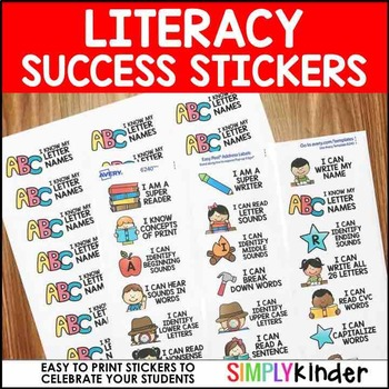 Success Stickers – Literacy