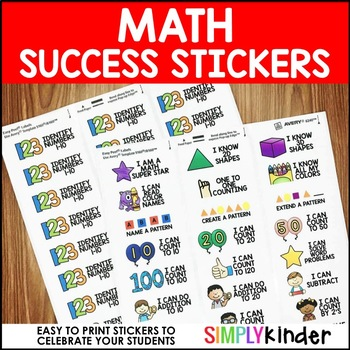 Success Stickers – Math