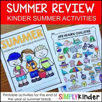 Summer Packet for Kindergarten – Summer Review Packet Kindergarten