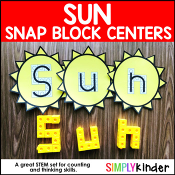 Sun Alphabet Snap Block Center
