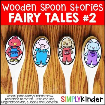 Wooden Spoon Stories 2 – Little Red Hen, Gingerbread Man, Jack and the Beanstalk