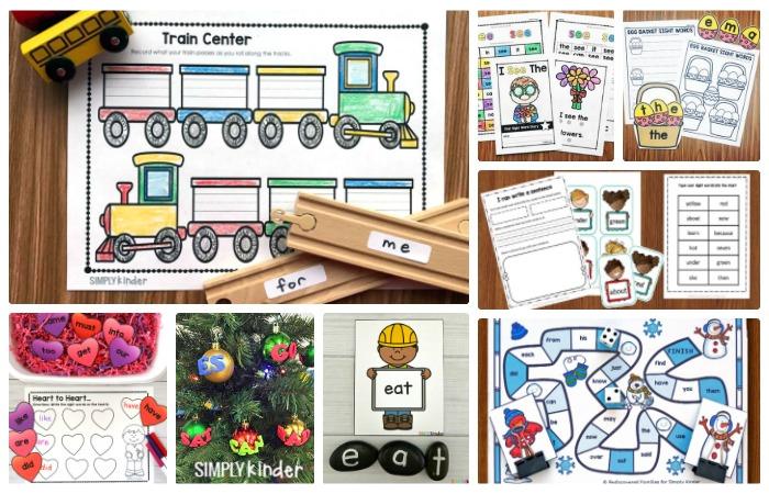 Kindergarten Sight Word Activities
