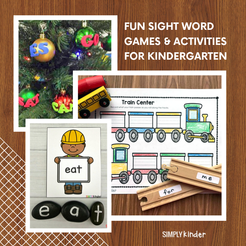 The Ultimate List of Kindergarten Sight Word Activities