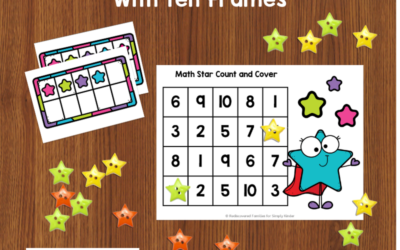 Count & Cover Mats: A Counting Activity For Kindergarten