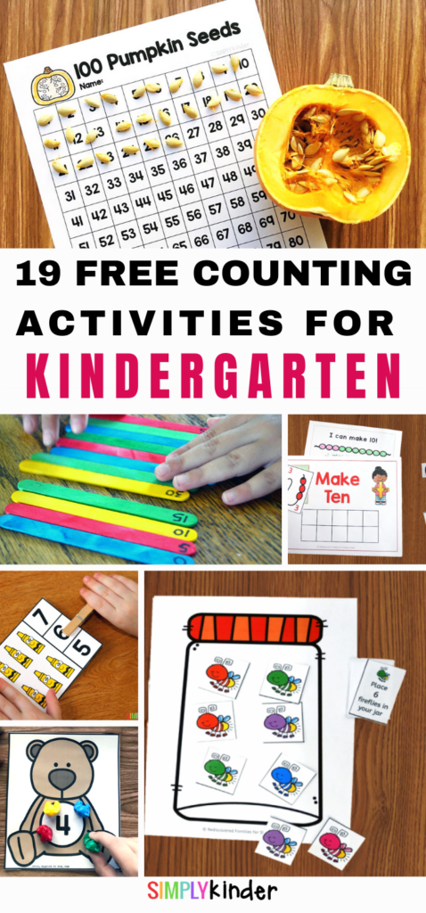 Counting Activities for Kindergart