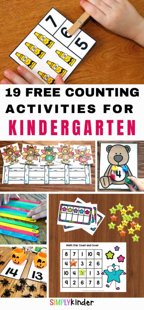 Counting Activities For Kindergarten