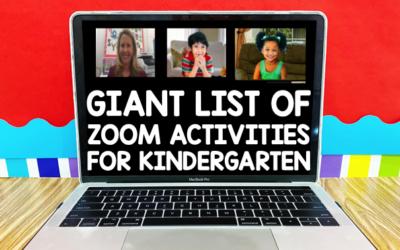 Zoom Activities for Kinder