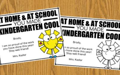 Kindergarten is Cool Certificate