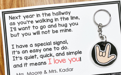 End of Year Hallway Poem and Keychain